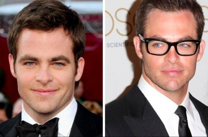 Do men usually look better with or without glasses?