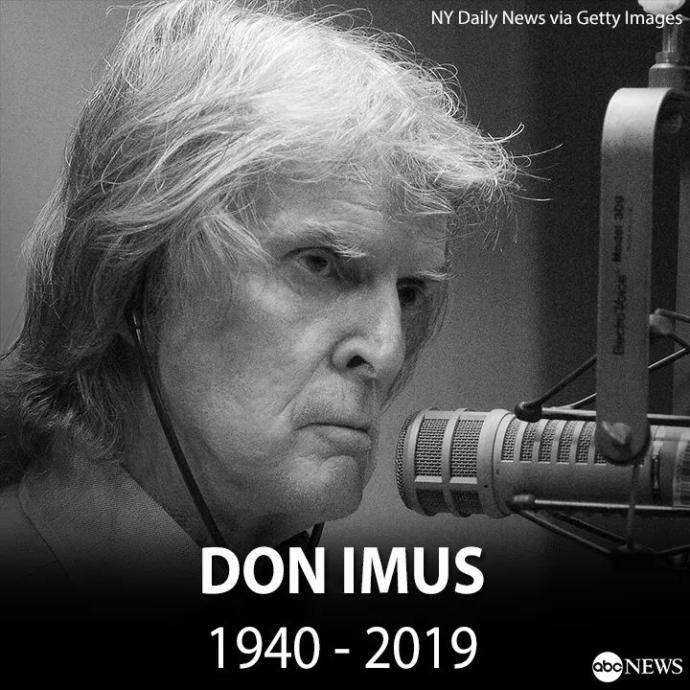 Controversial Radio talk show host Don Imus dead at 79? Did you ever listen to him? Especially New Yorkers?