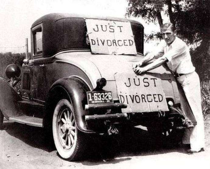 Do people celebrate and announce divorces as they do marriages?