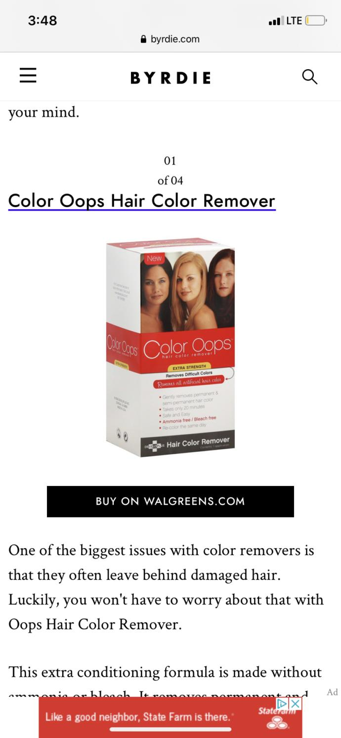 How does hair color remover work? Does it instantly turn your hair back to its natural color or will you have to keep dying it?