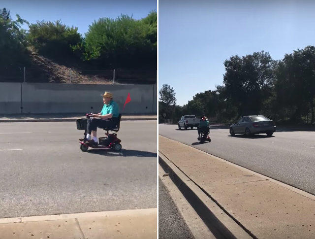 Should the elderly not use motorized chairs/scooters if they cant drive a car?