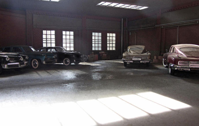 Which of these photos is the model car?