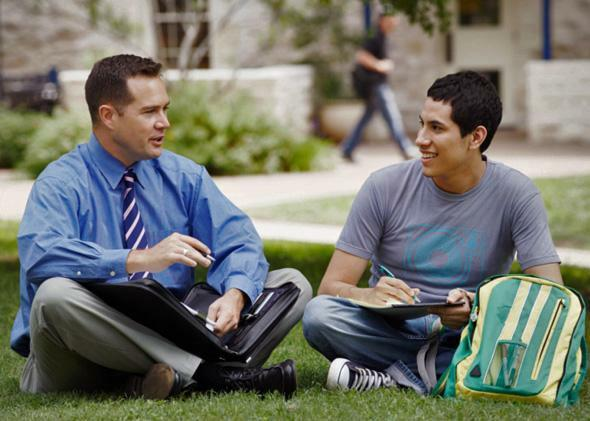 Have you ever seen and talked with a teacher or professor outside of class?