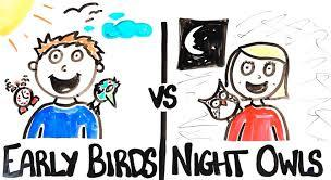 Are you a morning person or a night owl?