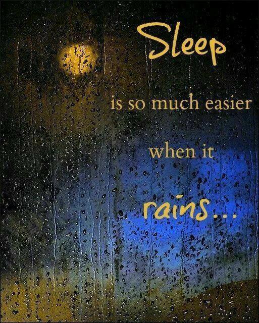 Do you sleep better when it rains?