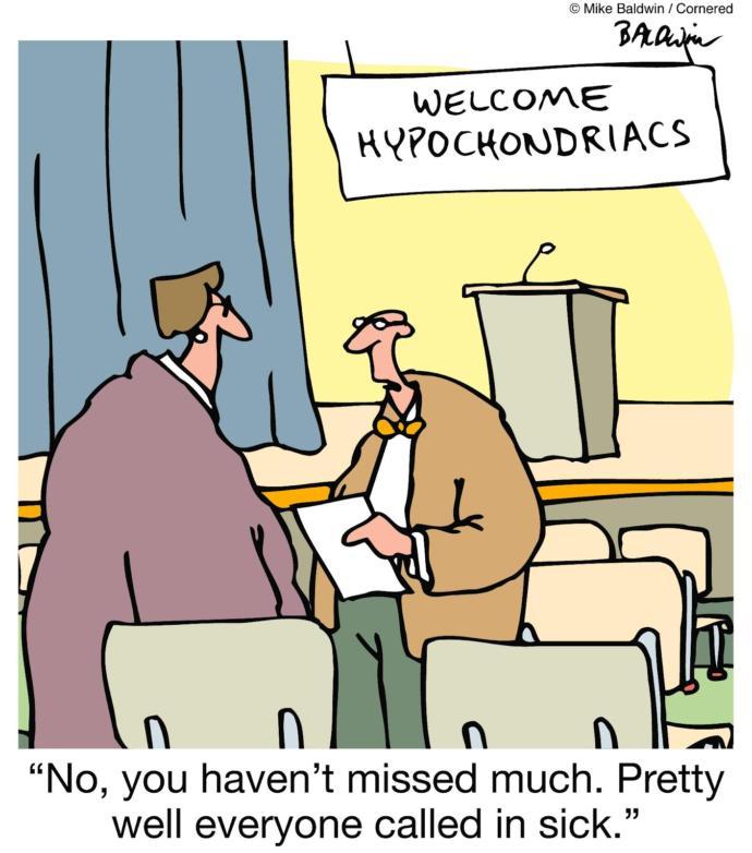 WebMD creates a new generation of Hypochondriacs, true or false?