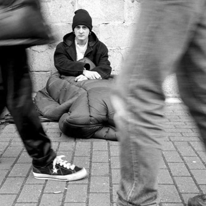 How do you react when you see a homeless person in their 20s?