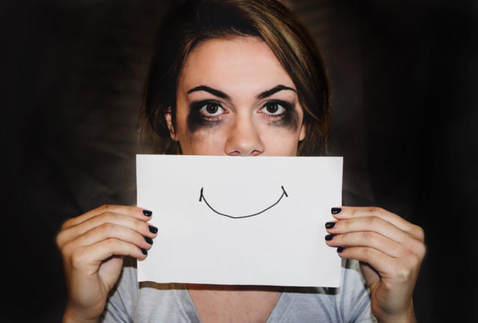 Can generally HAPPY people have DEPRESSION (or any other mental illness causing them to hide their real emotions)?