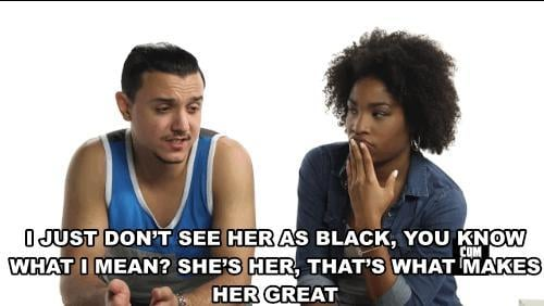 Do you speak carefully when entering an interracial relationship or do the things you say not really cross your mind?