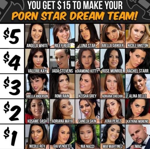 Who would be in your pornstar team?