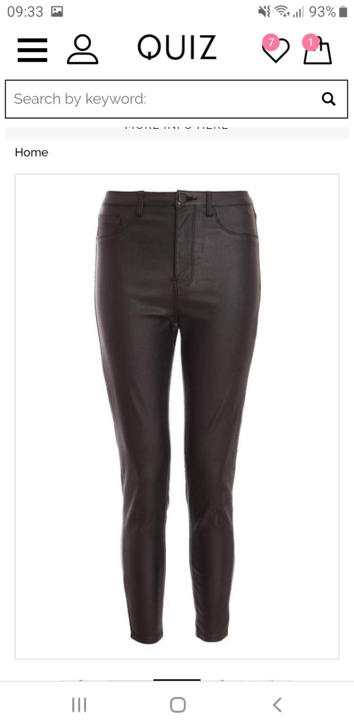 Opinions on leather look leggings/jeans?