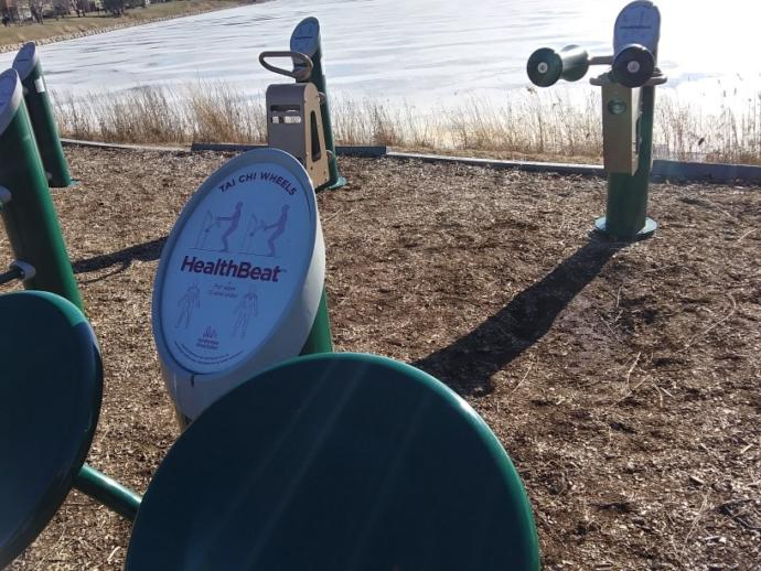 Have you ever seen exercise equipment at a public park before?
