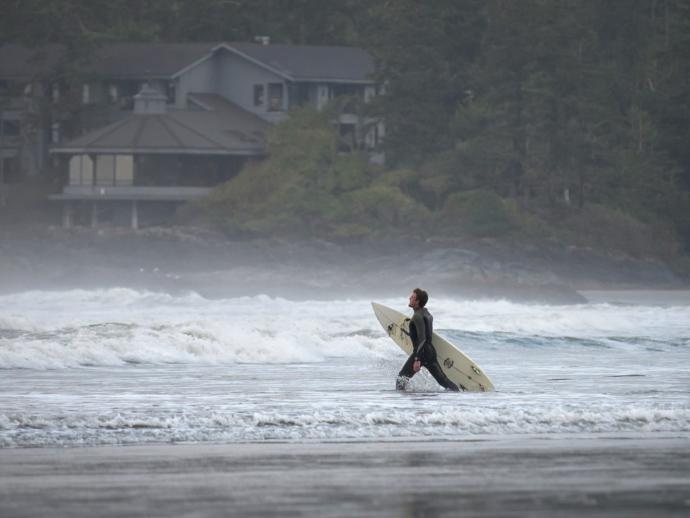 Surfing Tofino, B. C., Canada