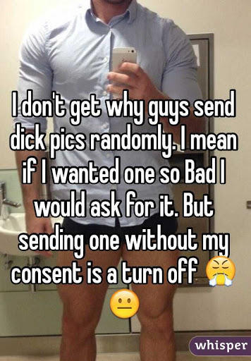 Guys, what is it about sending out D Pics to girls that turns you on so much? Girls, what is your opinion on this?