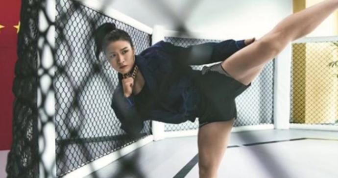 Do you think you could beat WeiLi Zhang in a fight? she weighs 115 pounds and retained her UFC title?