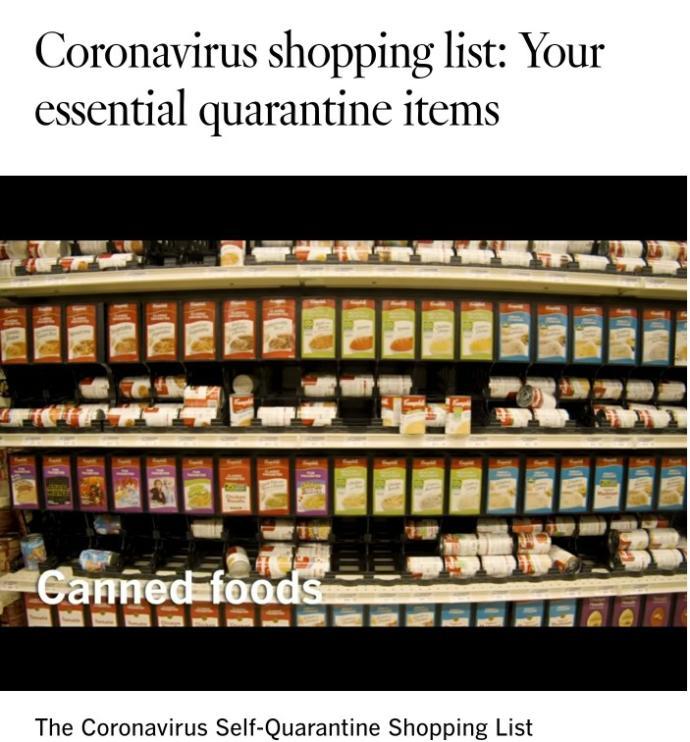 What items should we stock for Coronavirus pandemic?