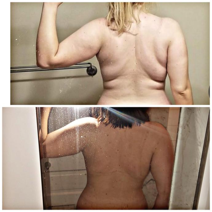 Posted my before and after (quitting alcohol 2 months ago)! Hopefully it motivates some people to also share stories or quit if they want?