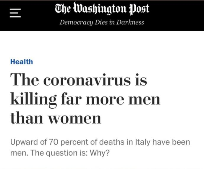 Do you agree with Liberals that Coronavirus COVID-19 is a gendered crisis against women?