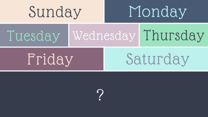 If you could create an 8th day of the week, what would you name it? And where would you place it?