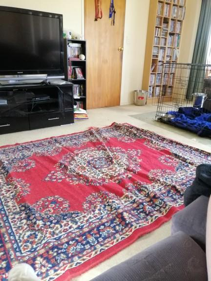 How do I get the creases out of this rug?