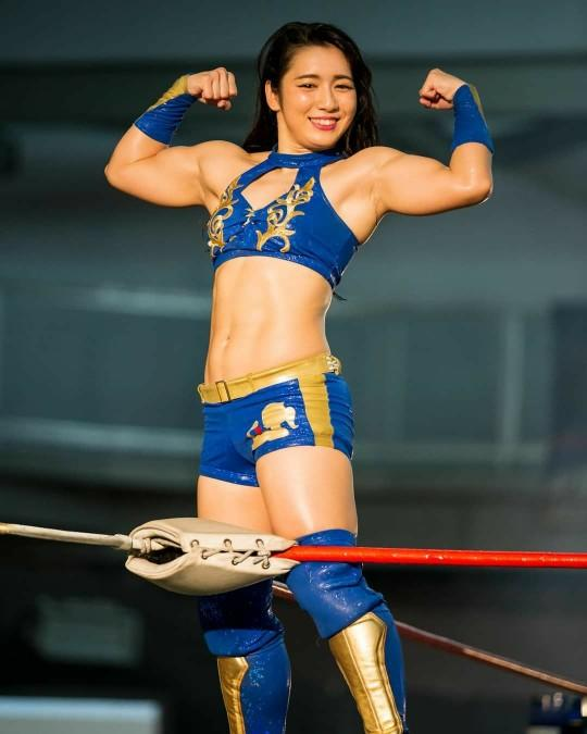 Would you love to date this female Japanese pro wrestler and get it on with her in bed?