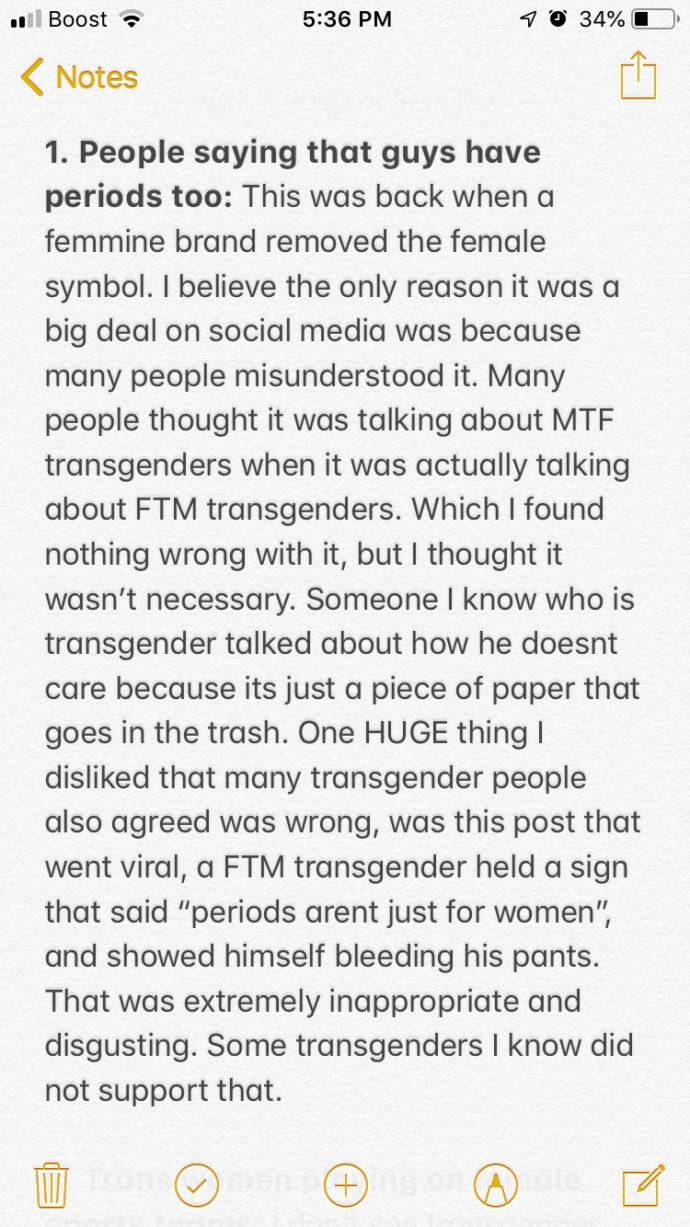 TRANSGENDER SUPPORTERS ONLY!!! Are some people taking it too far?