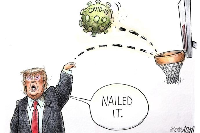 Why does Trump only give happy talk comments in his daily coronavirus briefings instead of reality?