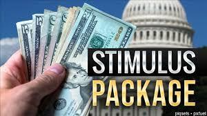 What is the name of the USA stimulus package check?