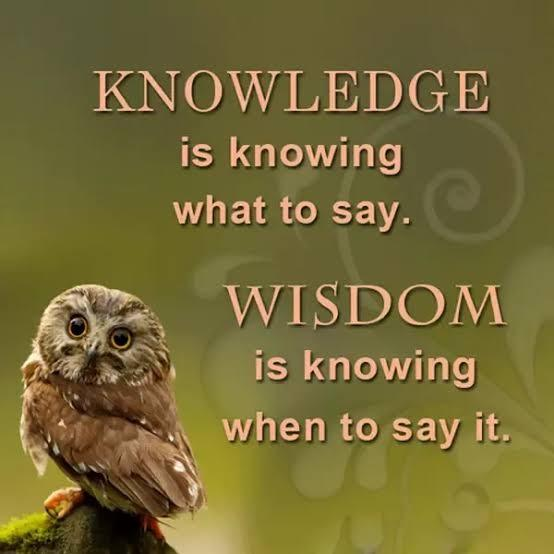 What do you think is difference between Intelligence and Wisdom?