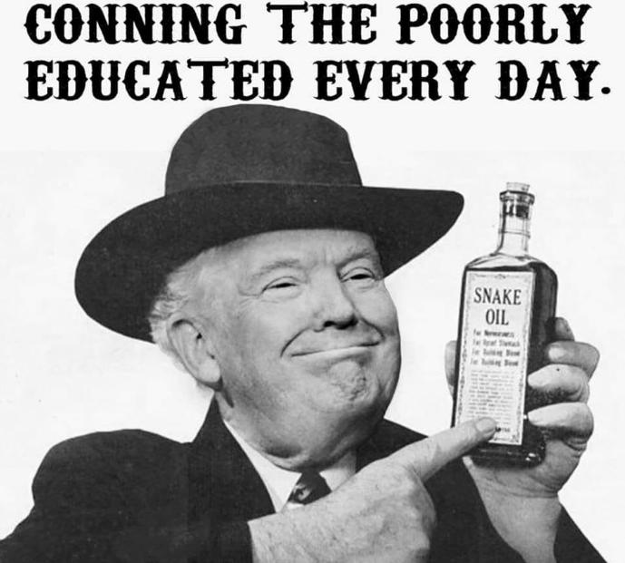 Use ONLY Trump Brand Snake Oil
