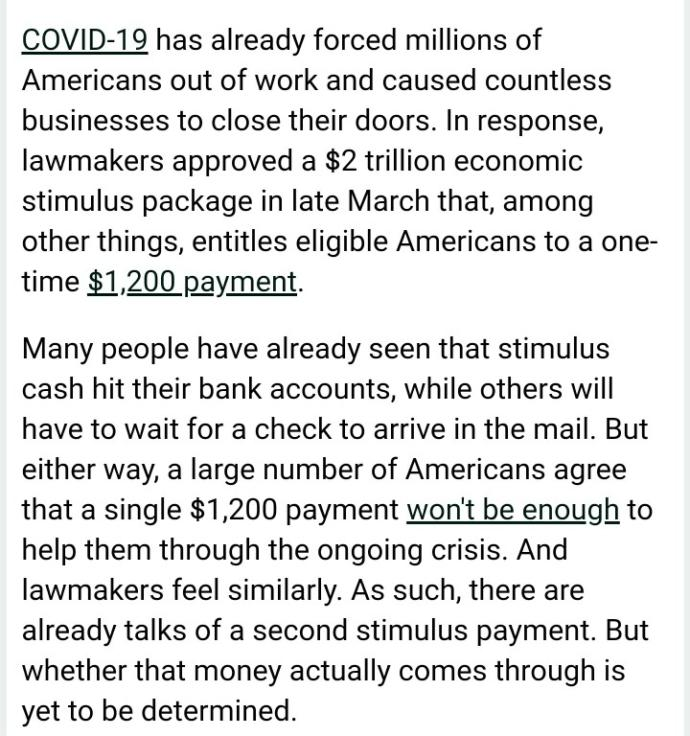 What are you going to do with your Stimulus money?