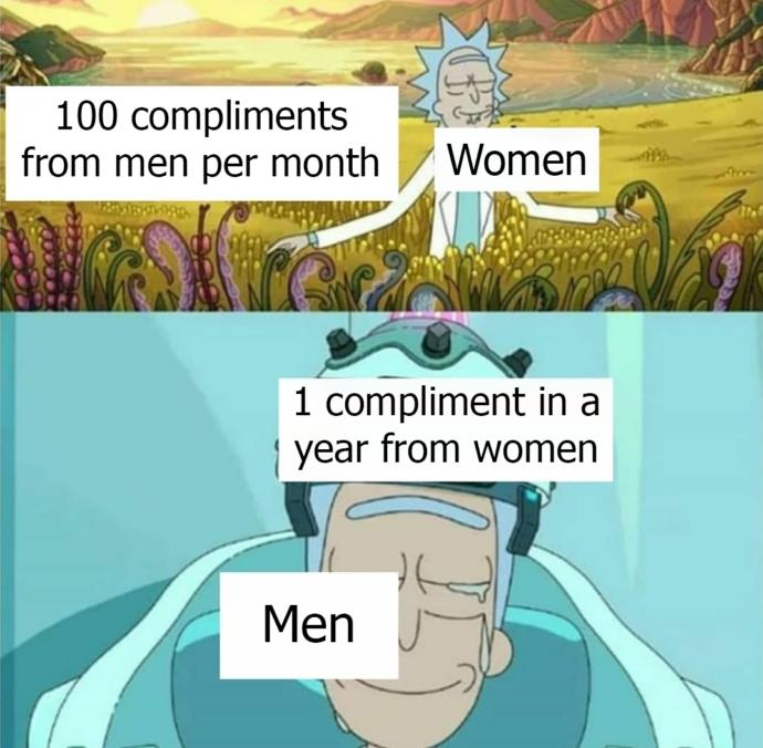 Who can relate to this (getting compliments from the opposite sex)?
