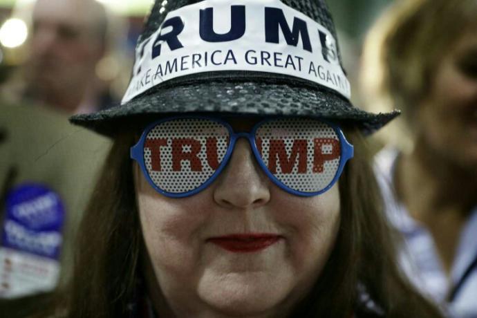 Why do Americans wear Trump caps?
