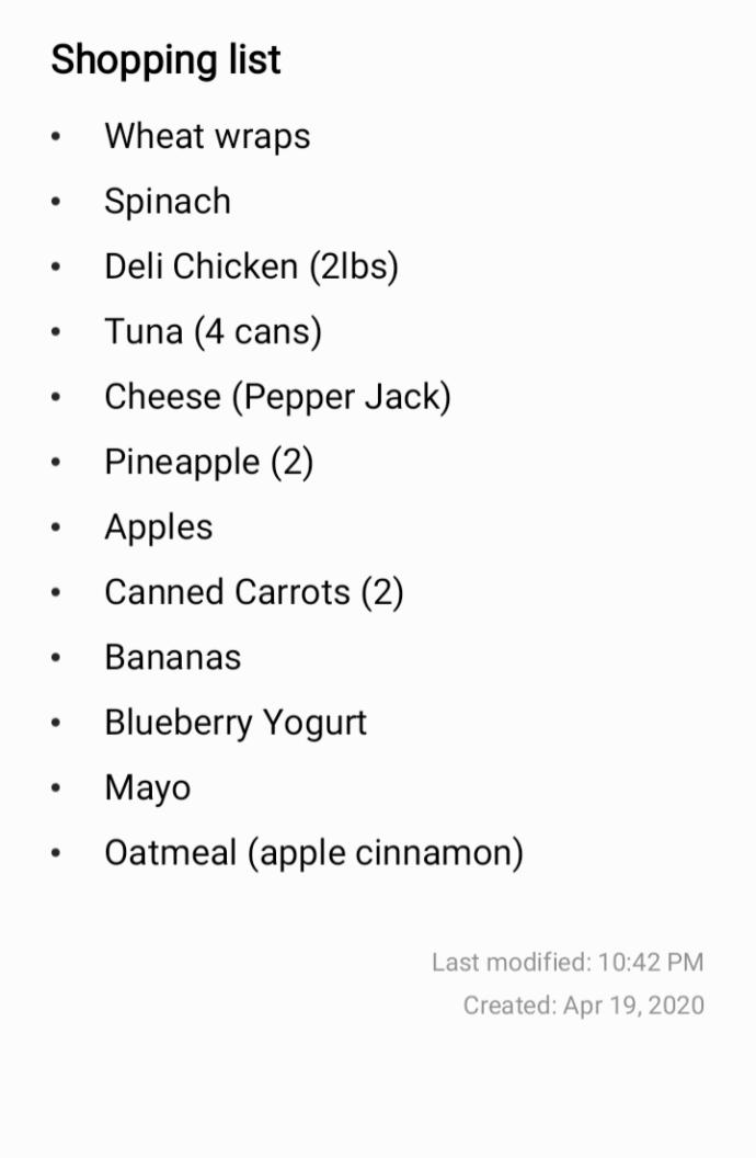Should I add anything else to my grocery list?