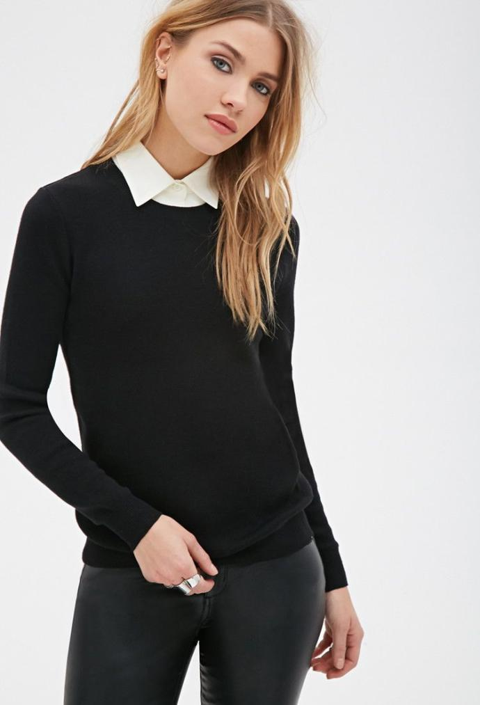Could adding a turtleneck under a shirt and tie make the outfit more feminine?