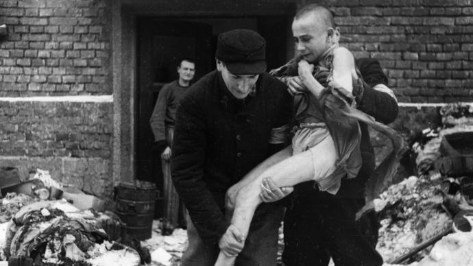 A 15-year-old Russian boy, Ivan Dudnik, is rescued in 1945.