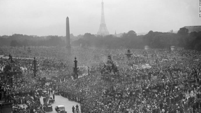 August 26, 1944. A day after the liberation of Paris, France.