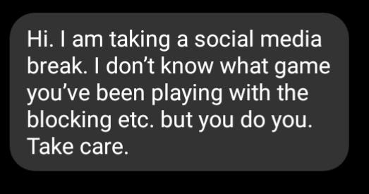 Why would a guy who rejected you send me this message?