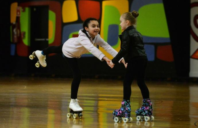 Skateboarding or roller skating?