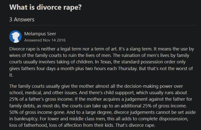 Well Teach boys not to rape when we Teach girls not to divorce rape. Fair is fair?