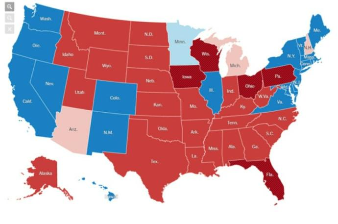 To those of you who are politically red in a blue state or politically blue in a red state, could you tell us about it?