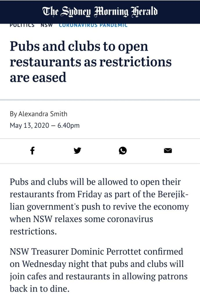 Would you go out drinking or dining as soon as restaurants & pubs open again?