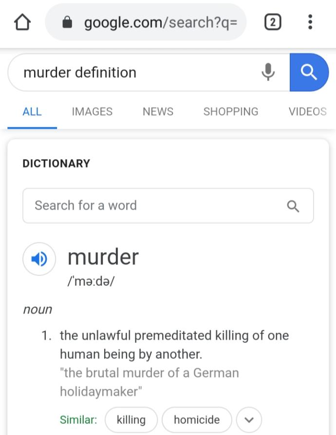 Do you think abortion falls under the definition of murder?