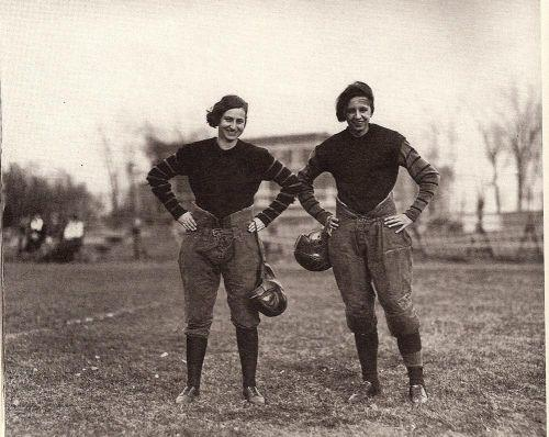 Are you surprised that women played tackle football before the 1950s?