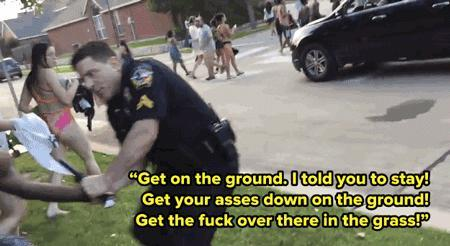 If a suspect resists arrest a cop has the right to use as much force as needed to restrain and cuff a thug resisting arrest. Agree?