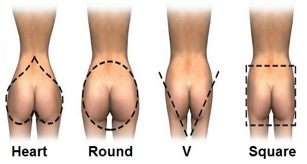 Guys, which is your preferred butt shape on girls? Girls, whats your shape?