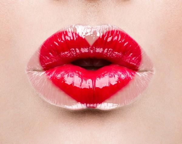What do you think of the idea of heart lips, where a heart is stenciled onto the lips?