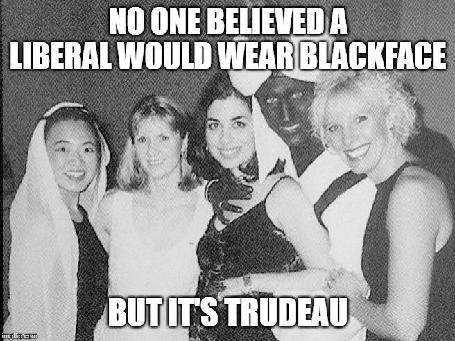Liberals what is it with you guys and blackface?