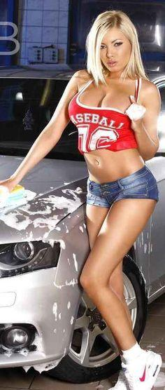 Which of these women would you rather share time doing the same thing with: washing the car or going fishing?