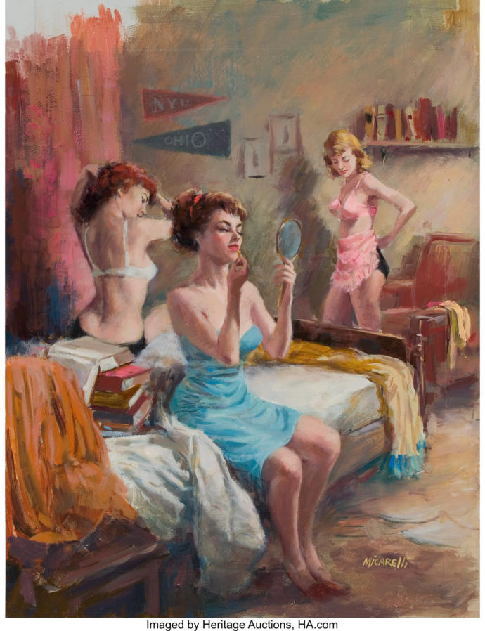 CLEMENT MICARELLI (American, 20th Century) Girls Dormitory